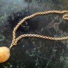 """Sunshine"" Yellow Quartz Druzy Gold Foil 24"" Florentine Rollo Chain Necklace $89"