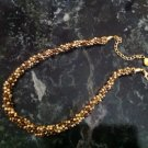 """Shades of Gold"" Beaded Kumihimo Necklace $109"