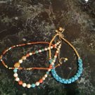 """Layers of Summer"" 3 piece Necklace set Lapis, Carnelian, Turquoise, Amazonte $145"