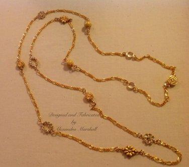14Kt Gold overlay Swarovski Crystal Necklace $129