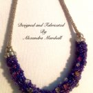 Purple Artisan Swarovski Crystal Rope Necklace $169.