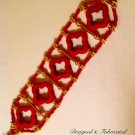 Artisan Crafted Red Coral & Howlite Bracelet $49.