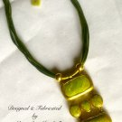 "Artisan Crafted Contemporary ""Jade"" Necklace"