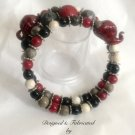 Alabama Fan's Red Elephant Wrap Bracelet