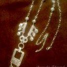 Long Boho Pewter Tribal Tassel Necklace