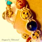Knotted Natural Leather & Multi Gemstone Bracelet