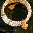 Swarovski Pearl and 14K Gold Filled Wrap Bracelet On Sale Now!