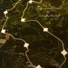 """White Clover and Gold Plated 36"""" Long Rope Necklace $69."""