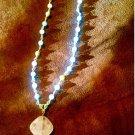 """Stunning Baby Blue Amazonite Gemstone 30"""" Long Necklace"""