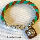 Little Cowboy / Cowgirl Turquoise and Cognac Leather Bracelet