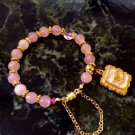 Rose Quartz and Crystal Bracelet