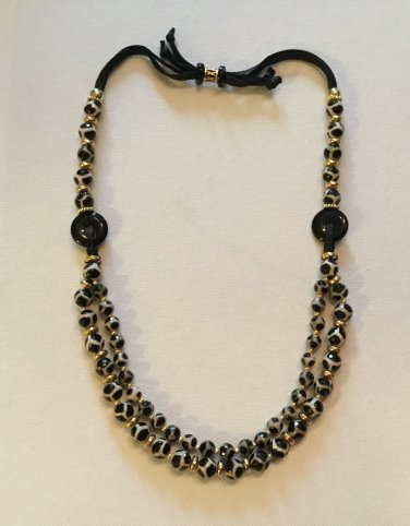 "Ladies Black and Tan 22"" - 26"" Gemstone Necklace"