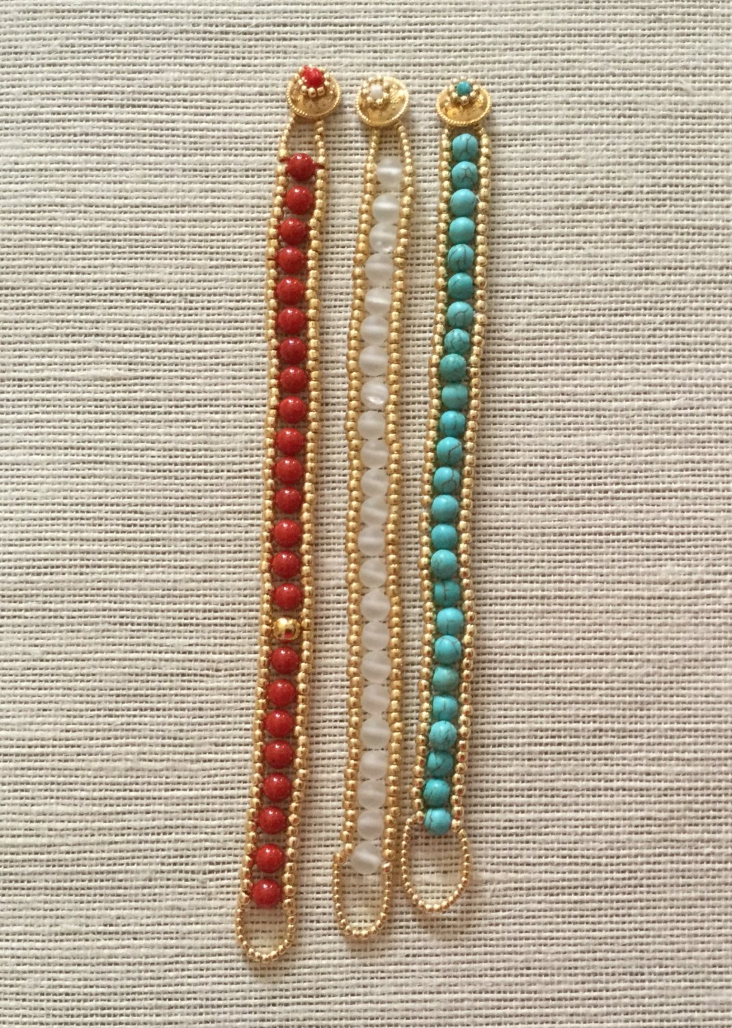 Women's Coral, Crystal, Or Turquoise Gemstone Wrap Style Bracelet