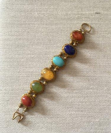 Women's  Chunky Multicolored Cabochon Bracelet