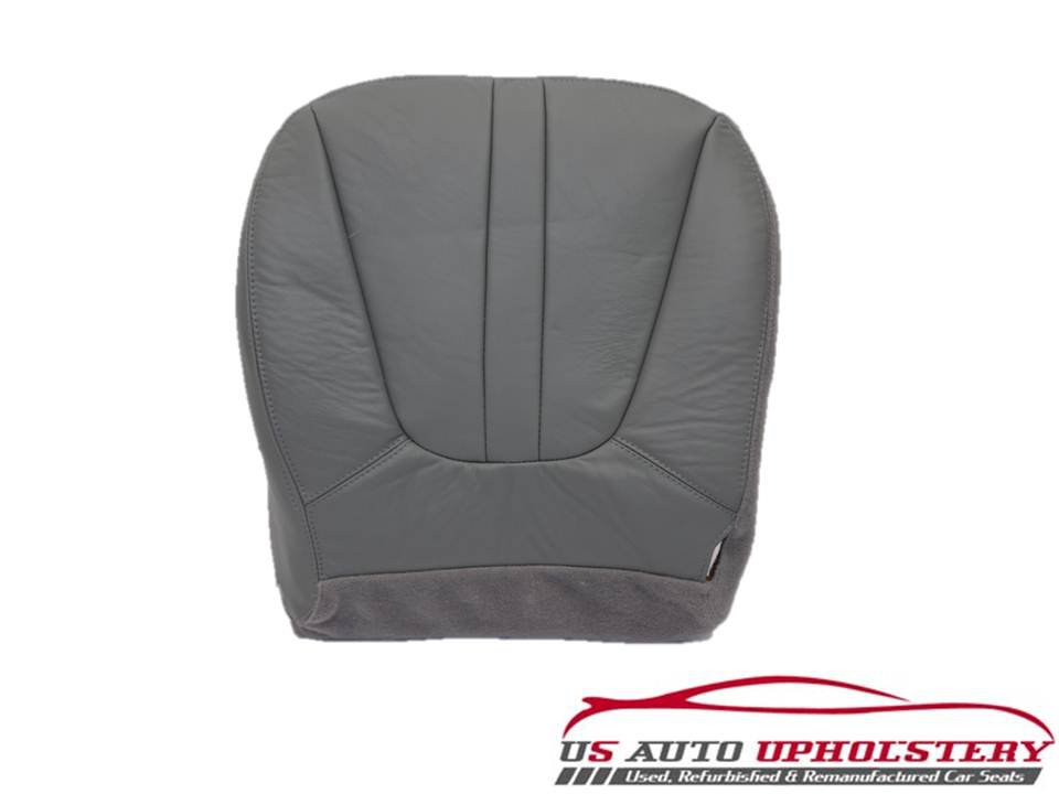 2000 2002 ford expedition eddie bauer driver side bottom leather seat cover gray. Black Bedroom Furniture Sets. Home Design Ideas