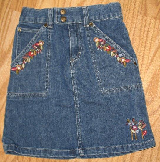 Oshkosh B'gosh Jean skirl w/floral embroidery