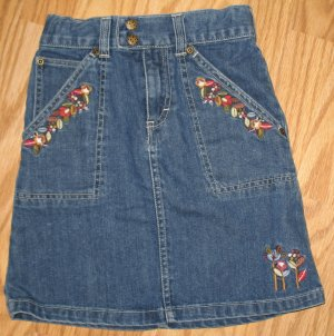 Oshkosh B'gosh Jean skirl w/floral embroidery