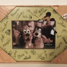Disney Parks Photo Picture Wood Frame 4x6 - Mickey & Characters Autographs - New