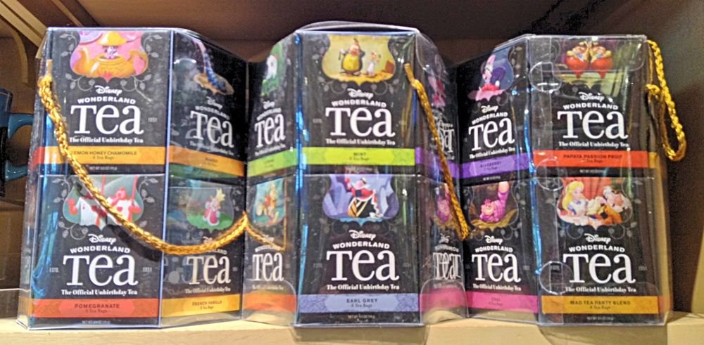 Disney Theme Parks Alice in Wonderland Variety Tea Gift Set 12 boxes 96 bags NEW