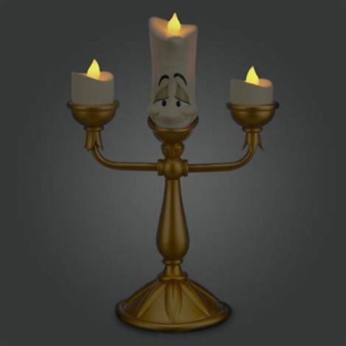 Disney Decorative Beauty And The Beast Lumiere Light Up Candelabra Figure NIB