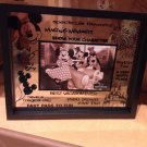 """Disney Parks Glass Picture Photo Frame with Quotes HOLDS A 4""""X6"""" photo NEW"""
