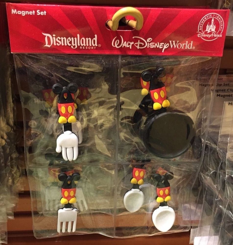 Disney Parks Exclusive Mickey Mouse Cooking Magnets Set NEW