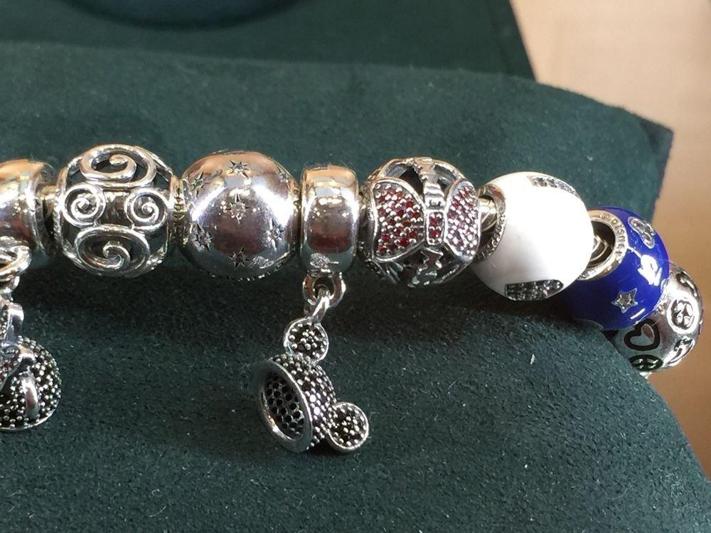 Disney Parks Pandora Minnie Mouse Bow Silver Charm New W/ Box
