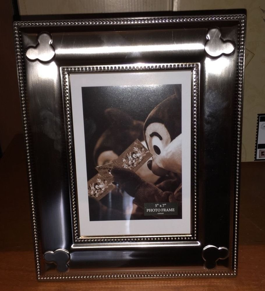 Disney Parks Silver Picture Photo Frame NEW