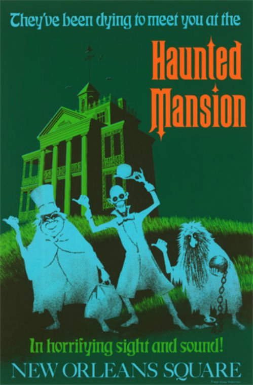 "Disneyland HAUNTED MANSION Print 14""x18"" NEW"
