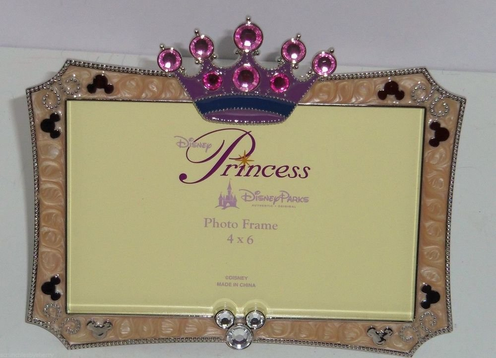 NEW Disney Parks Photo Picture Princess Frame PRINCESS CROWN Mickey Mouse Jewels