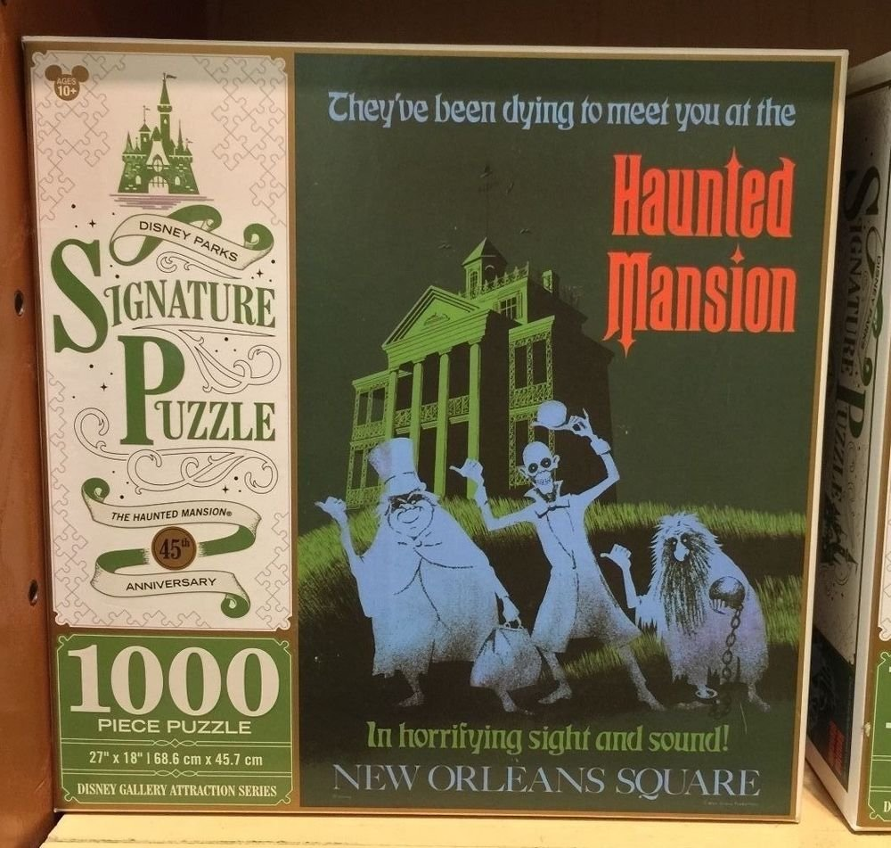 Disney Parks Haunted Mansion Hitchhiking Ghost 1000 Pieces Puzzle New