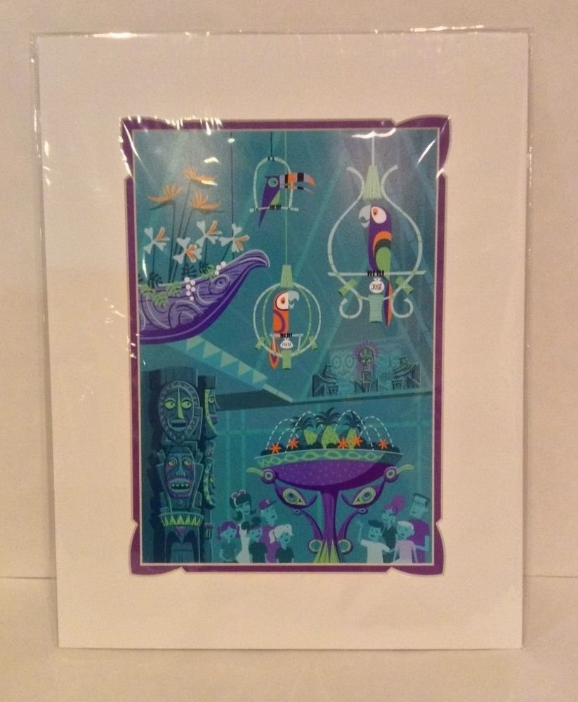 Disney Parks Walt's Enchanted Tiki Room The Birds Sing Print by SHAG 14X18