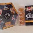 DISNEY PARKS ALICE IN WONDERLAND TEA HONEY SPOONS & OFFICIAL UNBIRTHDAY TEA SET