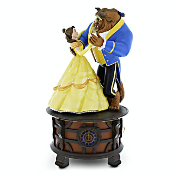 Disney Parks Exclusive Theme Song Beauty-Belle & The Beast Musical Box Figurine