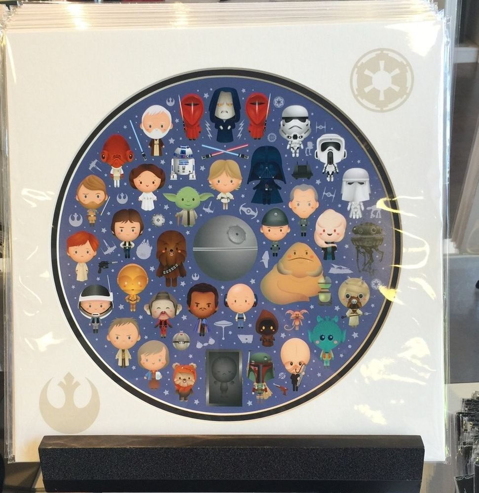 Disney WonderGround Gallery Star Wars Galaxy of Cute Print by Jerrod Maruyama
