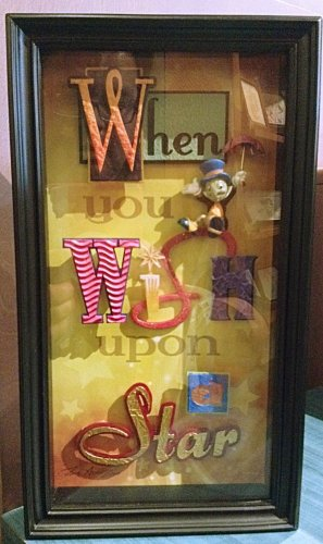 Disney Parks Icon Letters Shadow Box When You Wish Upon A Star by Dave Avanzino