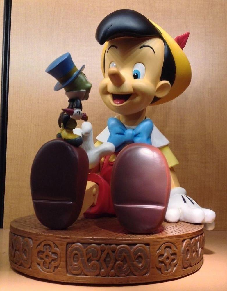 Disney Parks Pinocchio and Jiminy Cricket Medium Big Fig Figure