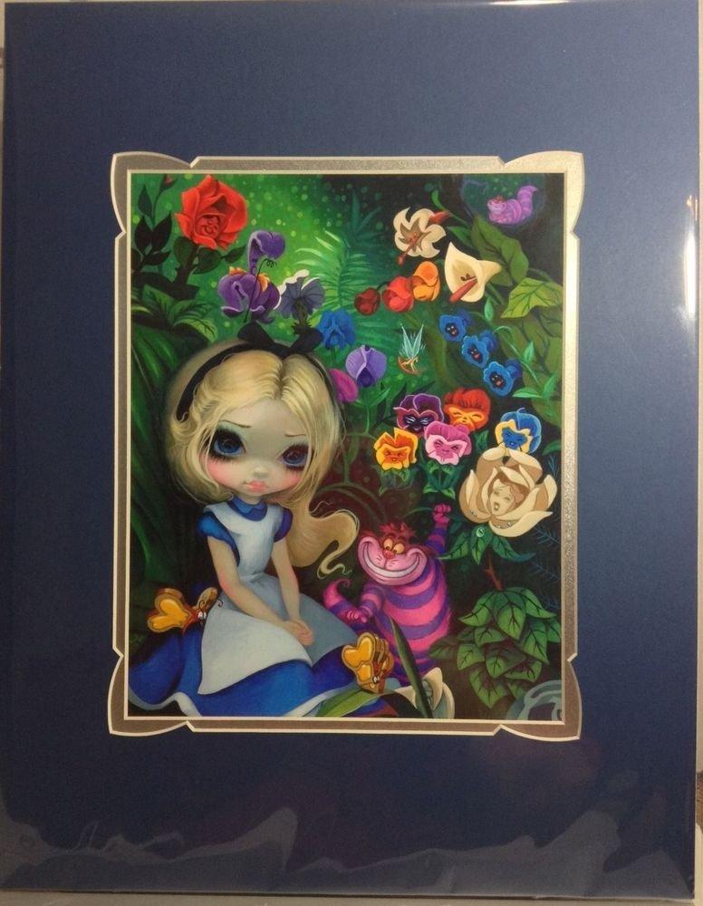 Disney WonderGround Gallery ALICE IN THE GARDEN Print by Jasmine Becket-Griffith