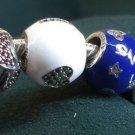 Disney Parks Pandora Silver Charm I Heart Mickey Silver-White Bead Charm New