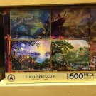 New Disney Thomas Kinkade Puzzle 500 Piece Set of 4 Puzzles Pinocchio Lion King