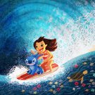 Disney WonderGround Lilo & Stitch, Hawaiian Roller Coa Postcard by Nidhi Chanani
