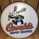 "Disney Parks DCA VINTAGE STYLE OSWALD THE LUCKY RABBIT ""SUPER SERVICE"" Sign NEW"