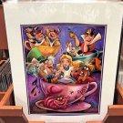 "Disney Parks Alice in Wonderland ""Alice In A Teacup"" Print by Darren Wilson NEW"