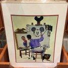 Disney Parks Walt Disney & Mickey Mouse Mickey Mouse Portrait Print NEW