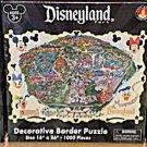 Disney Parks DISNEYLAND Decorative Border 1000 Piece Puzzle Map NEW
