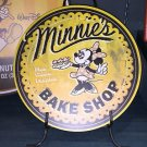DISNEY PARKS EXCLUSIVE MINNIE MOUSE MINNIE'S BAKE SHOP WOOD SIGN NEW 12X12