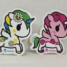 TOKIDOKI Authentic Unicorno Margherita and Stellina Sticker Set NEW(2 stickers)