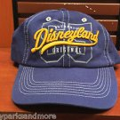 DISNEYLAND DISNEY PARKS AUTHENTIC ORIGINAL BLUE HAT YELLOW STITCHING NEW