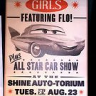 DISNEY PARKS CARS LAND MOTORAMA GIRLS WOOD SIGN FEAT. FLO NEW 26 X 14 NIB