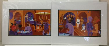 Disney WonderGround Star Wars A Wretched Hive Deluxe Print Set of 2 by SHAG NEW